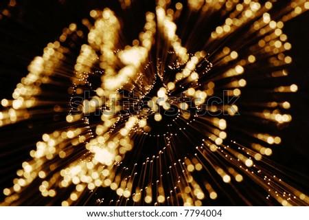 burst of christmas lights - stock photo