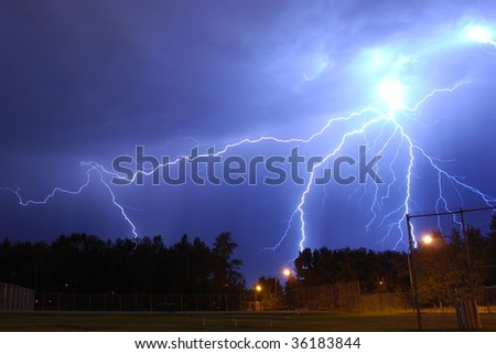 burst of lightning