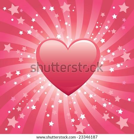 Bursting Heart Background - stock photo
