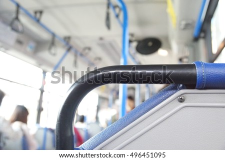 Bus chair handle