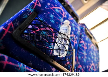 bus interior luggage space - stock photo