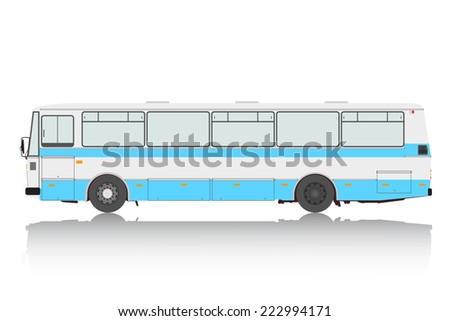 Bus on a white background.  illustration. - stock photo