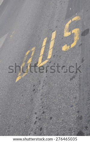 Bus sign - stock photo
