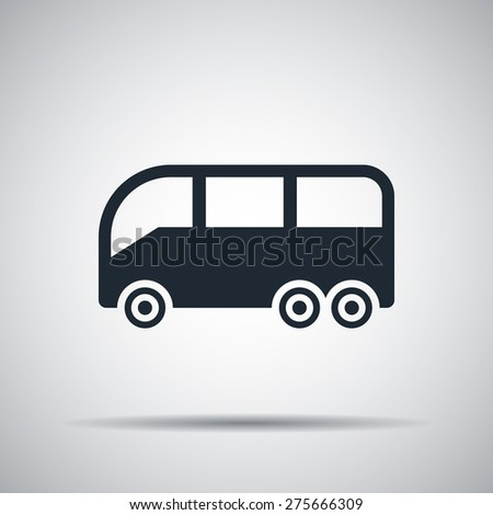 bus sign icon - stock photo
