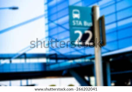 Bus sign number 22 in Blur style - stock photo