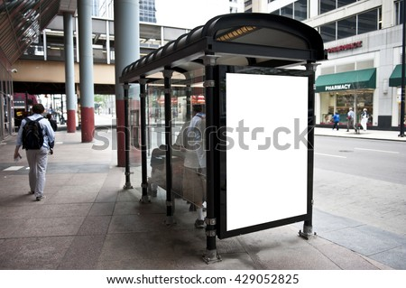 Bus Stand View - stock photo
