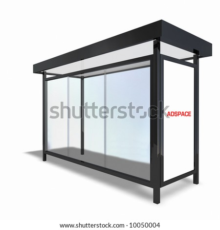 Bus Stop Back - stock photo