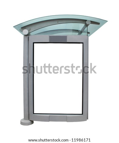 Bus Stop - Bus Shelter Isolated on White