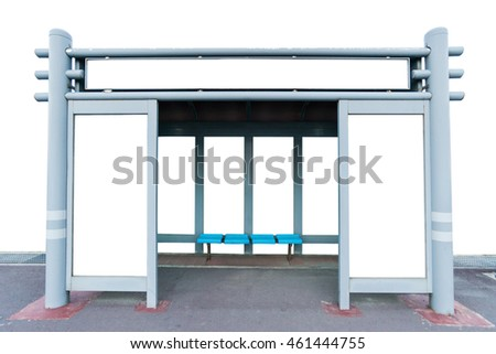 Bus Stop isolated on white background