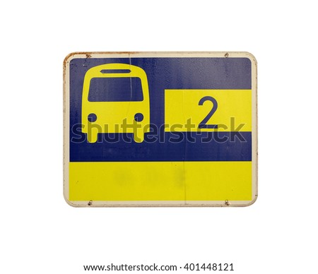 Bus stop signs - stock photo