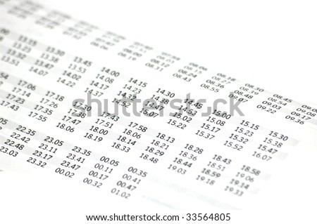 Bus timetable background