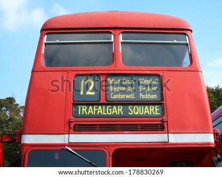 Bus to London Bridge - stock photo