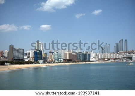 BUSAN, SOUTH KOREA - MAY 15: View of the city on May 15, 2014, Busan, South Korea. Busan is a modern city with the biggest harbour and beach in South Korea.