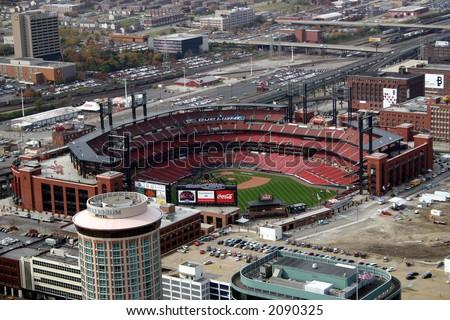 busch stadium aerial view - stock photo
