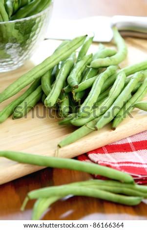 Bush bean,Green bean - stock photo