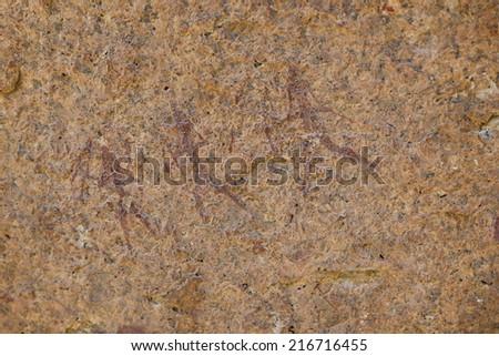 Bushman's pictogram - stock photo