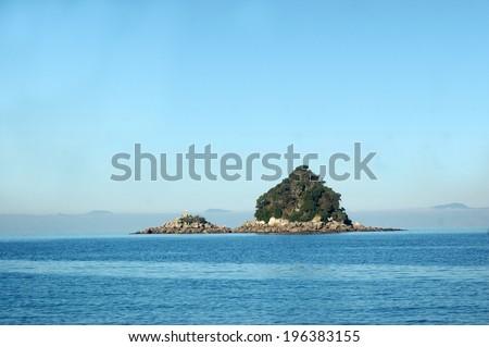 bushy islands, Abel Tasman National Park, South Island, New Zealand - stock photo