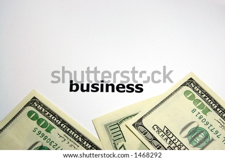 busines and money - stock photo