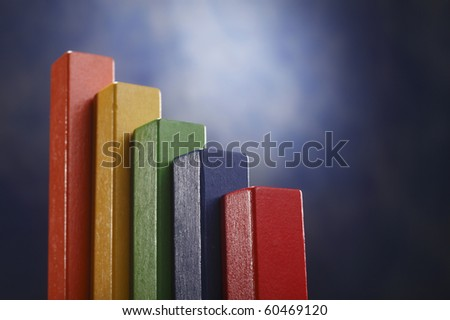 busines concept of colorful wooden block - stock photo