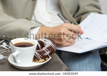 Business a lunch - stock photo