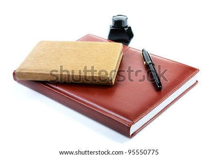 Business a still-life with organizers pen and ink - stock photo
