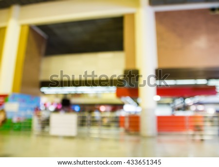 business abstract blur passenger in the airport
