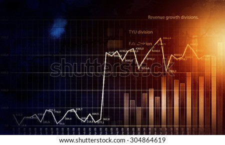 Business abstract image with high tech graphs and diagrams