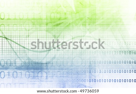 Business Abstract Technology as a Background Art