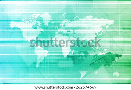 Business Abstract with World Map as Art