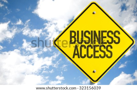 Business Access sign with sky background - stock photo