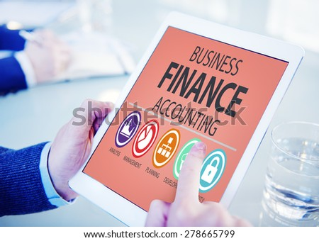 Business Accounting Financial Analysis Management Concept - stock photo