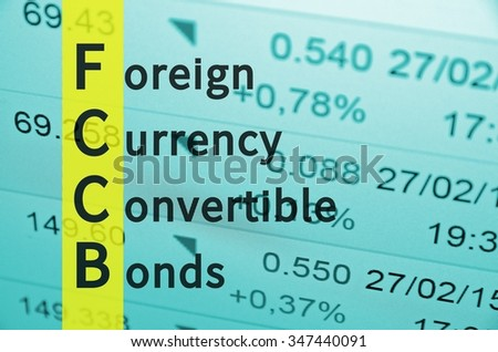 Business Acronym FCCB as Foreign currency convertible bonds.