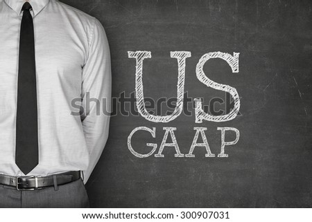 Business Acronym GAAP - Generally Accepted Accounting Principles on blackboard - stock photo