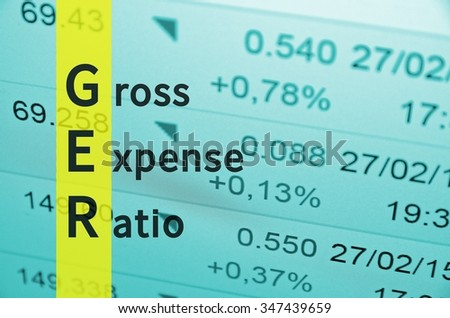 Business Acronym GER as Gross Expense Ratio