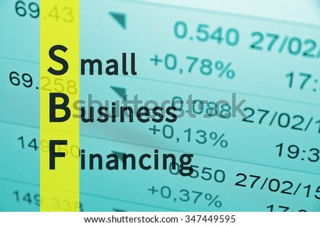 Business Acronym SBF as Small Business Financing