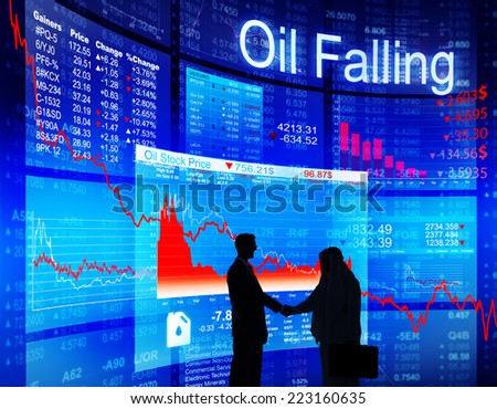 Business Agreement About Oil Falling - stock photo