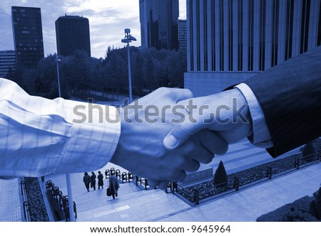 Business agreement in the financial area - stock photo