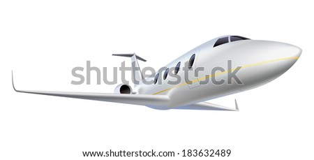 Business aircraft illustration  - stock photo