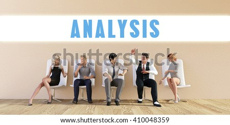 Business Analysis Being Discussed in a Group Meeting 3D Illustration Render - stock photo