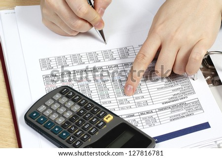 Business analysis,  business tables and charts - stock photo