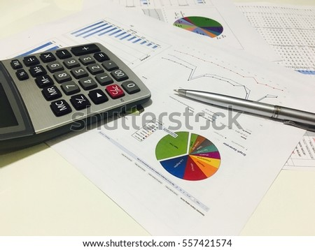 Business analysis documents on office table stock photo royalty business analysis documents on office table with calculator and graph financial with social network diagram ccuart Image collections