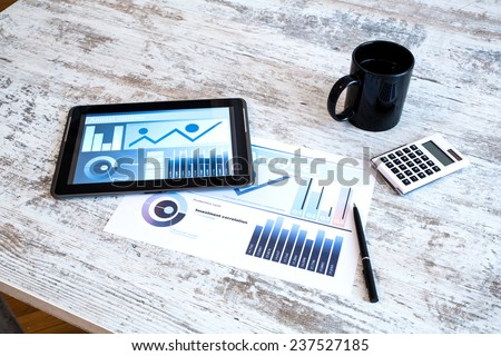 Business analytics - stock photo
