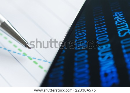 Business analytics and financial planning - stock photo