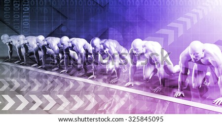 Business Analytics as a Digital Concept in Technology - stock photo