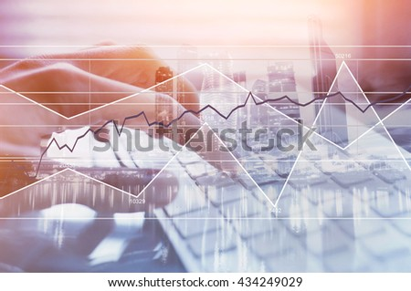 business and finance, modern technologies, forex background - stock photo