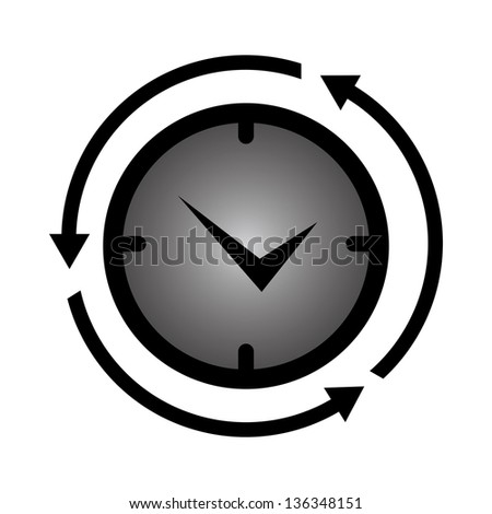 Business and Finance or Time Management Concept Present By Clock With Arrow Around Isolated on White Background - stock photo