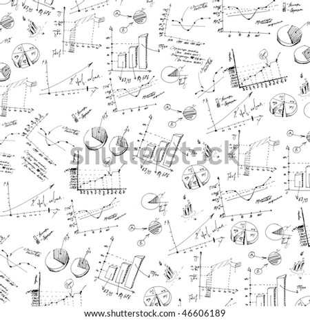 Business and finance texture, isolated on white background - stock photo