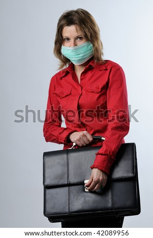 business and flu virus