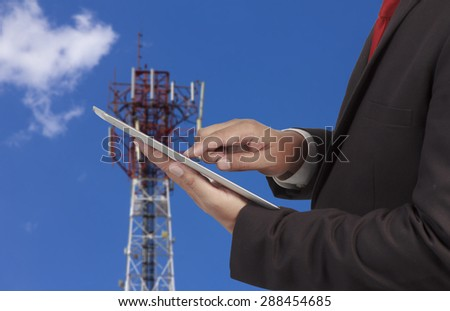 business and mobility communications concept - stock photo