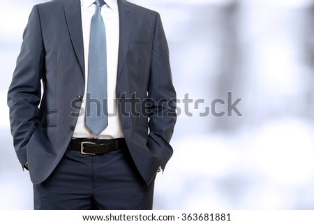 business and office concept - buisinessman in  a blue/navy suit